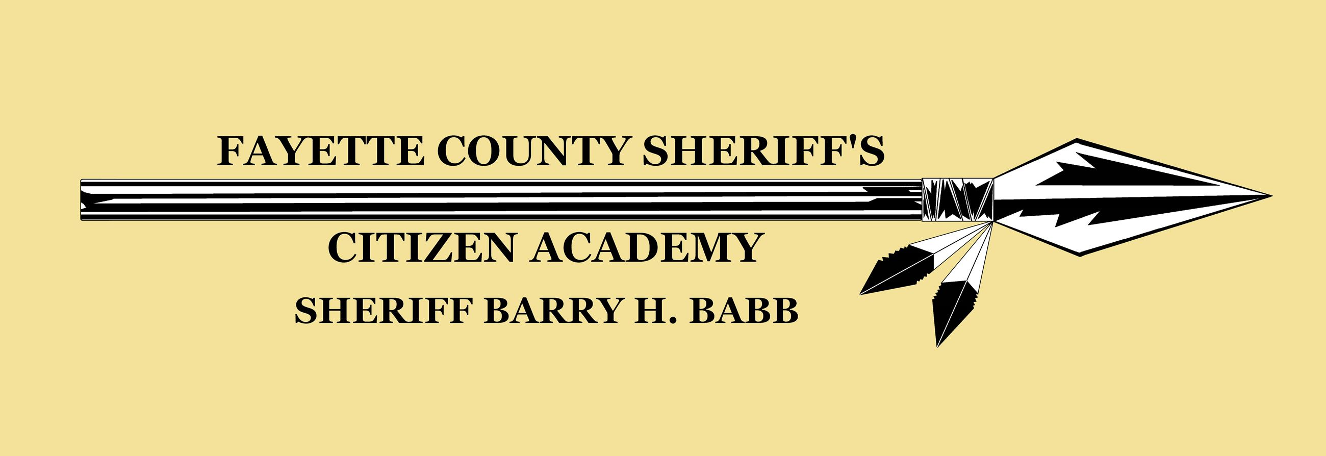 Fayette County Sheriffs Citizen Academy, Sheriff Barry H. Barb