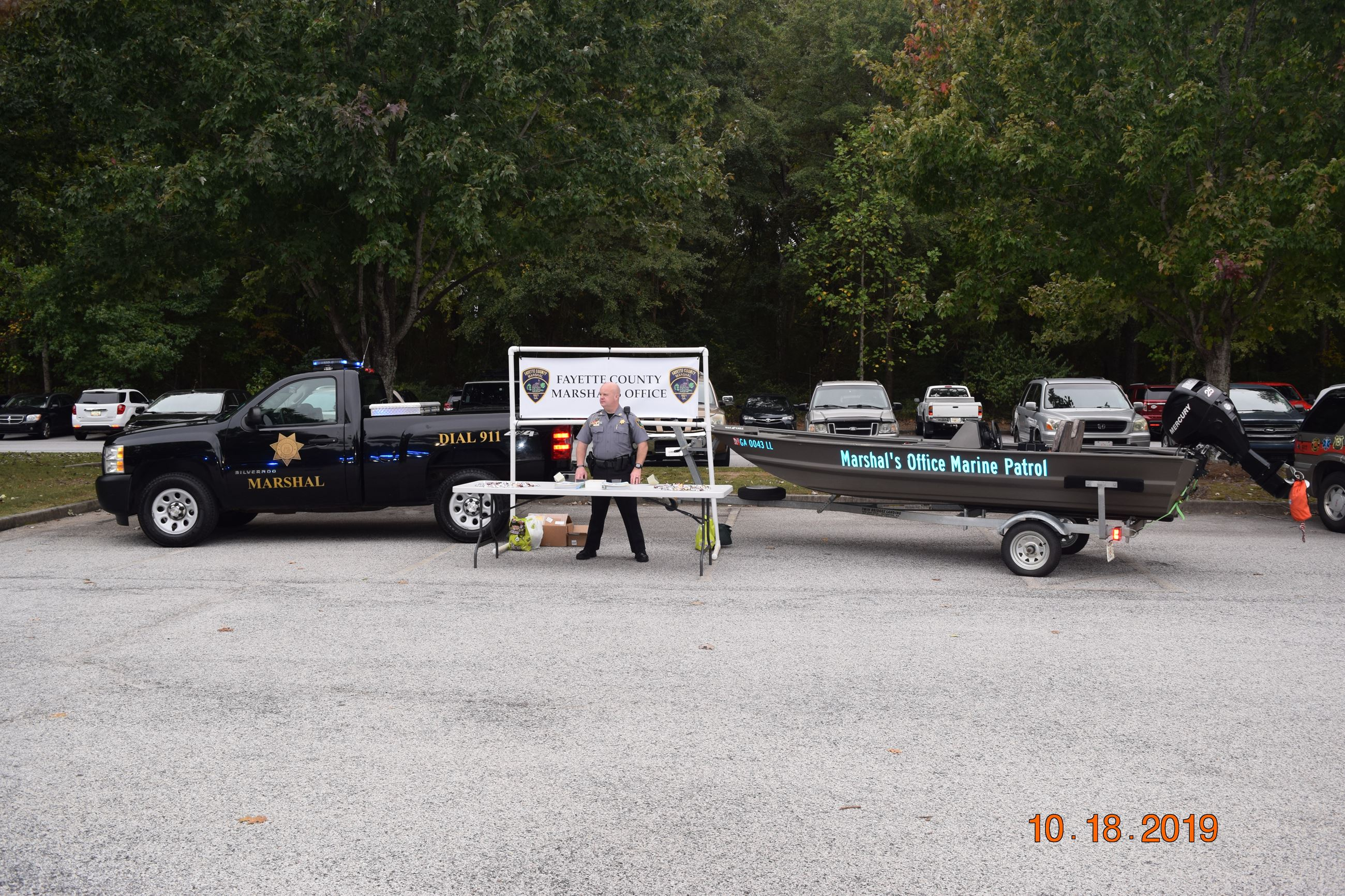 Fayette County Marshal's Office booth